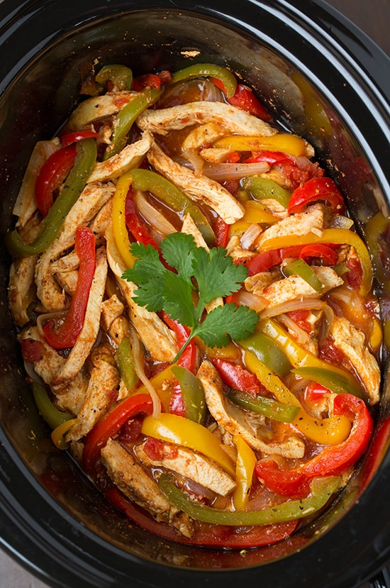 slow cooker chicken fajitas from cooking classic
