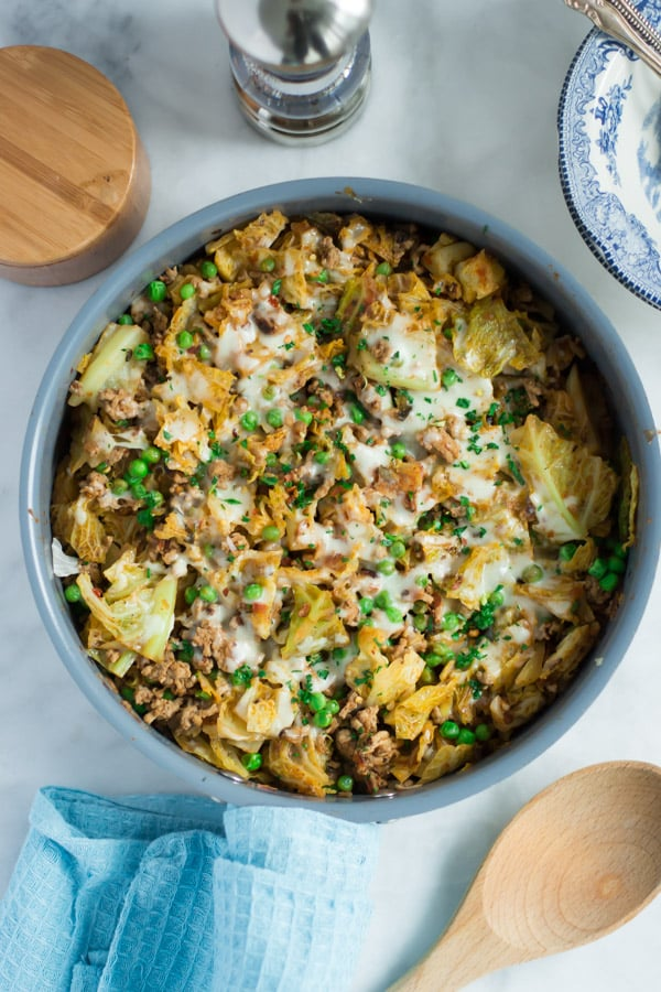 Turkey Cabbage Skillet - This very easy Ground Turkey Cabbage Skillet ...