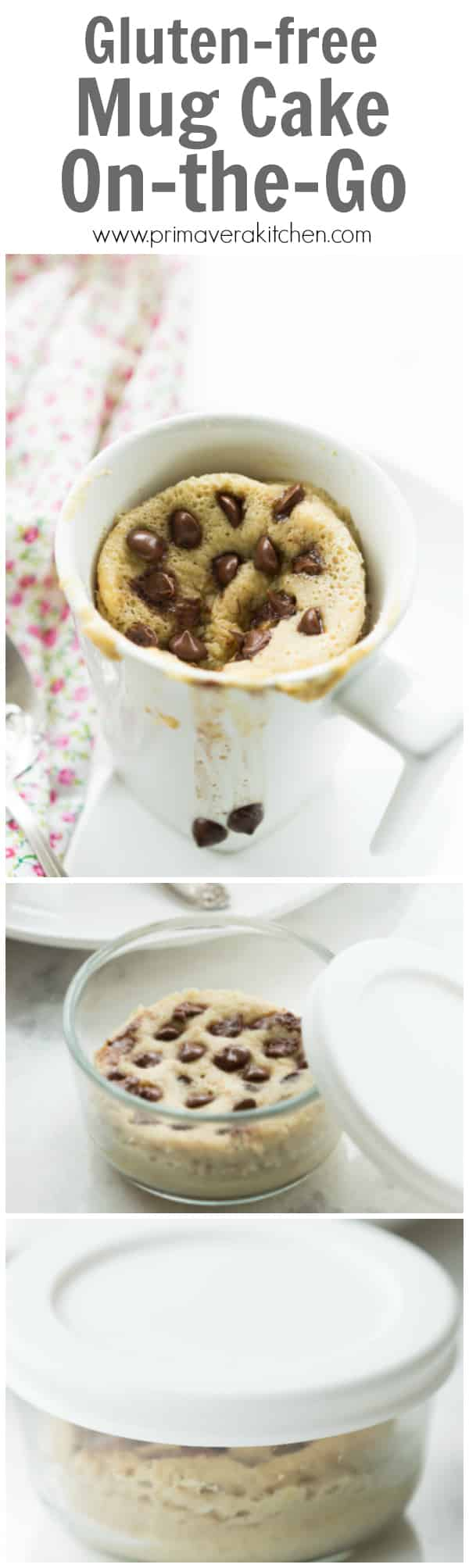 Gluten-free Mug Cake On-the-Go - I called this recipe ''Gluten-free Mug Cake On-the-Go'' because you can make it in your mason jar or even in a small microwave-safe container that has a lid and bring easily to work or school. This is very convenient, healthy and delicious snack to have during your busy week!