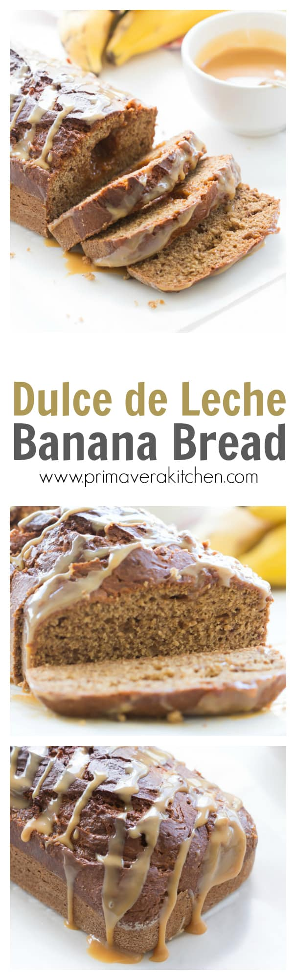 Dulce de Leche - The dulce de leche is swirled in a classic banana bread recipe, making it even more flavourful and irresistible. This is an amazing recipe with only few ingredients!