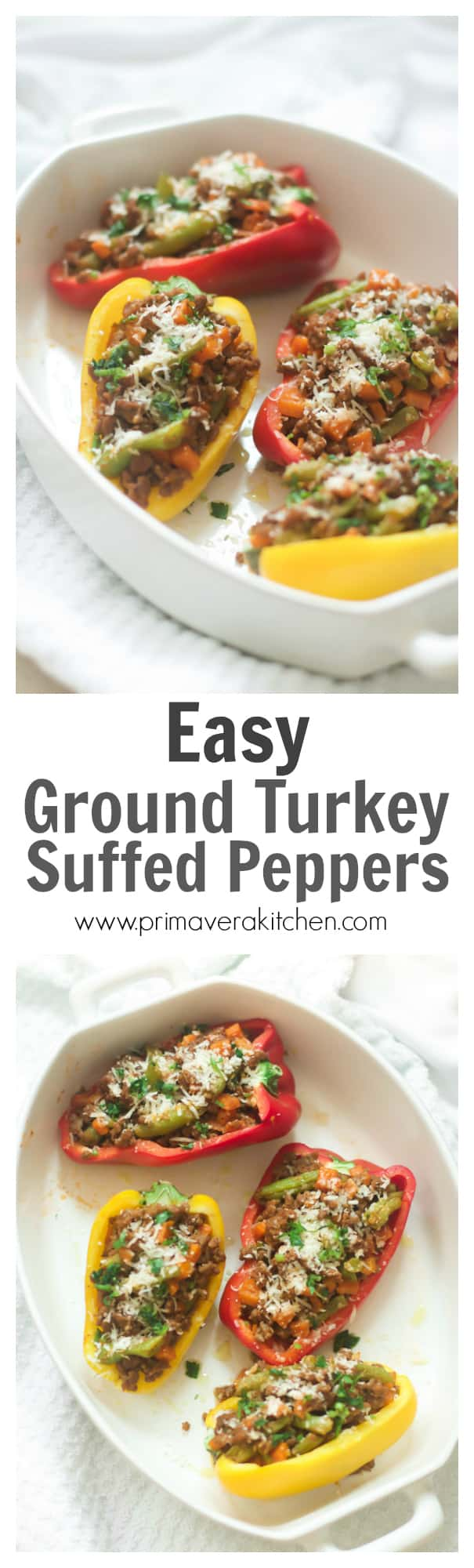 Easy Ground Turkey Stuffed Peppers - This Easy Ground Turkey Stuffed ...