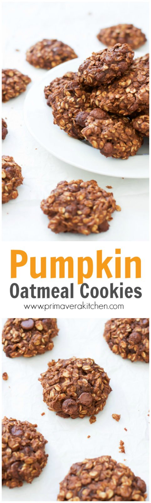 Completely Sugar Free Pumpkin Oatmeal Cookies Recipe ...