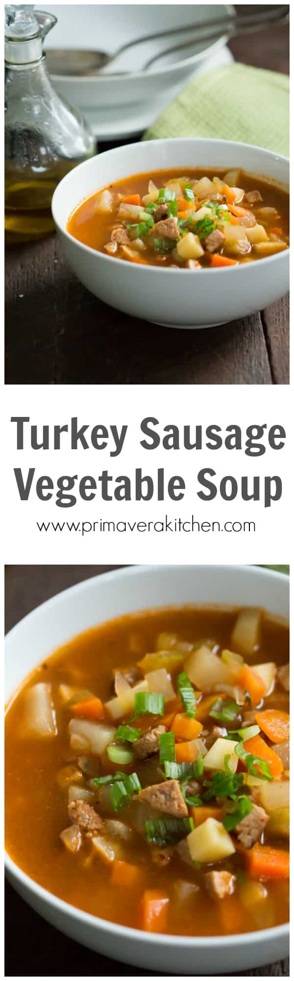 turkey-sausage-vegetable-soup - Enjoy this filling Turkey Sausage Vegetable Soup that is packed with the flavors of turkey sausage, tomatoes, parsnip and turnip. This is a very satisfying soup and it'll warm you up during the cold weather.