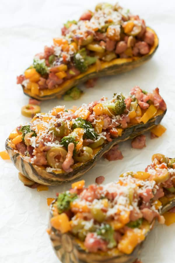 italian-sausage-stuffed-butternut-squash - This Italian Sausage Stuffed Butternut Squash recipe is the ultimate comfort food and it's a complete meal with lots of veggies and protein. It's also low-carb, gluten-free and paleo-friendly!