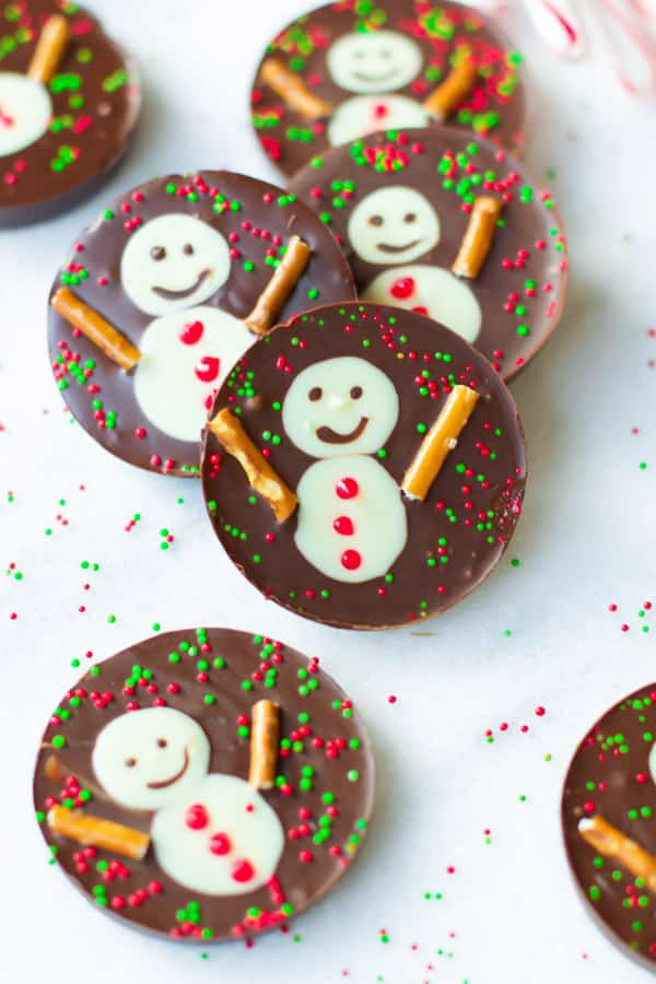 snowman chocolate cups these fun festive and delicious snowman chocolate cups are - No Bake Christmas Treats