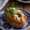 Goat Cheese Chicken Stuffed Sweet Potato_-4