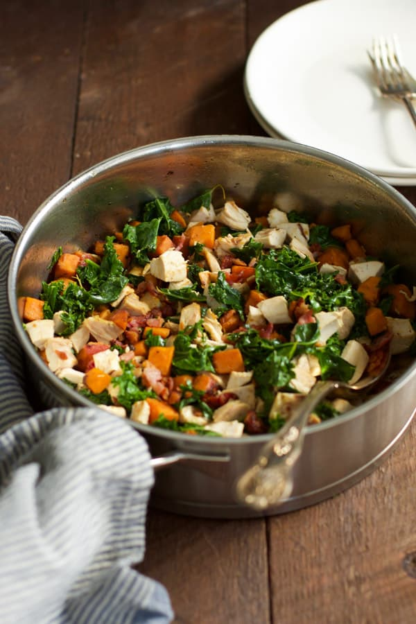 Sweet Potato Chicken Kale Skillet Primavera Kitchen Recipe