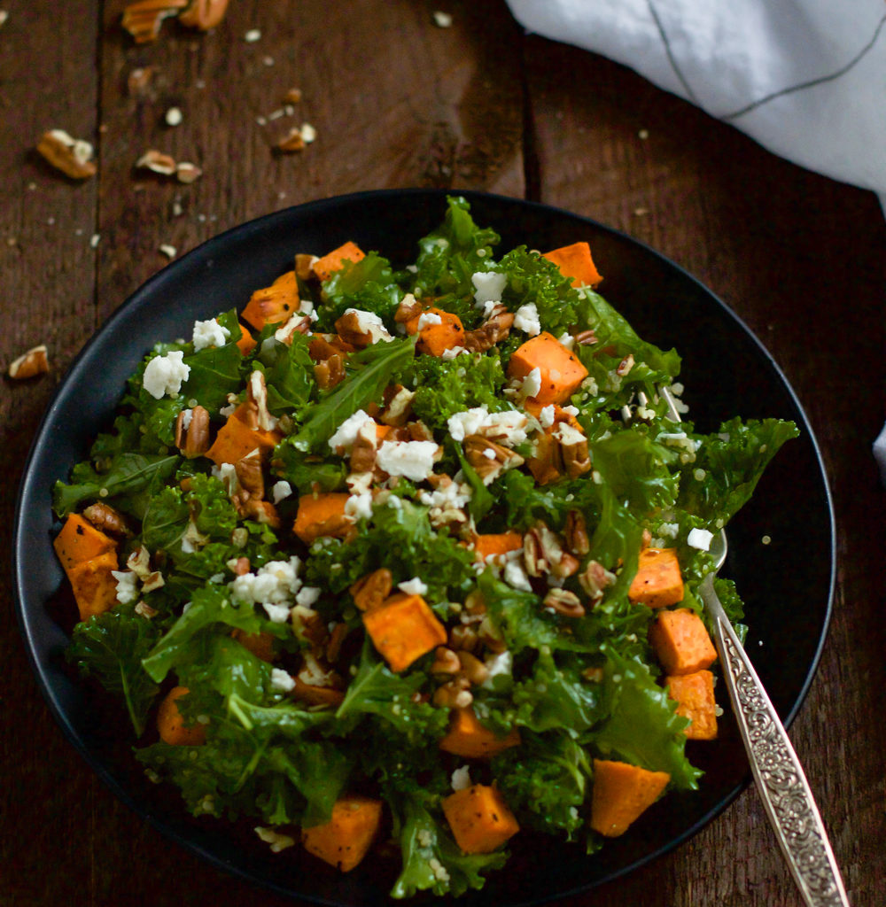 Roasted Sweet Potato Kale Salad Primavera Kitchen Recipe