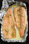 Garlic Butter Rainbow Trout in Foil