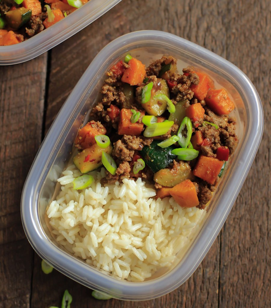Ground Beef Zucchini Sweet Potato Skillet (Meal Prep) Primavera Kitchen