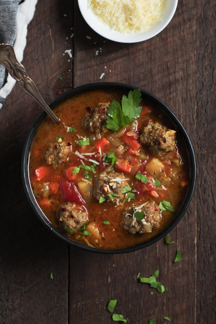 Healthy Meatball Vegetable Soup Primavera Kitchen Recipe