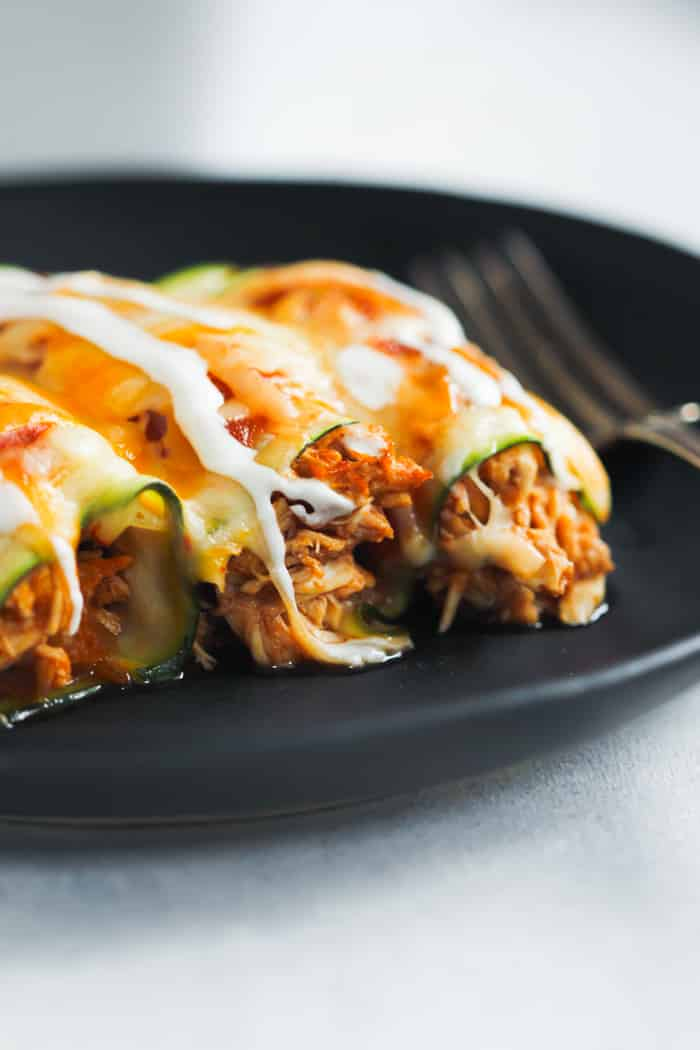 Low Carb Chicken Zucchini Enchilada Primavera Kitchen