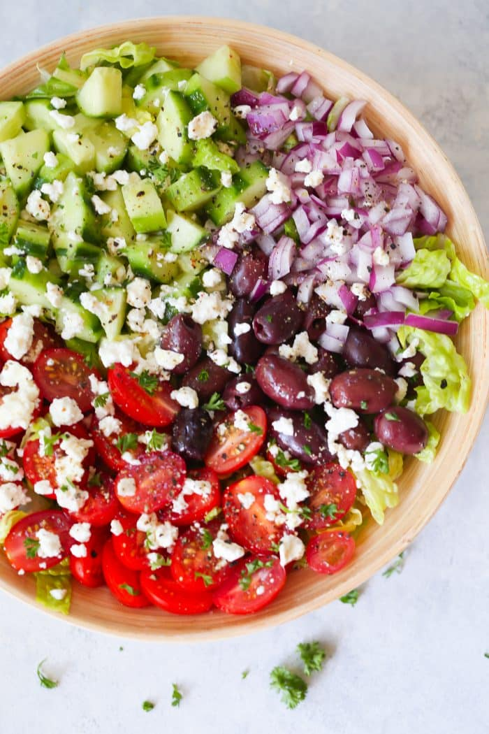 Easy Mediterranean Chopped Salad Primavera Kitchen