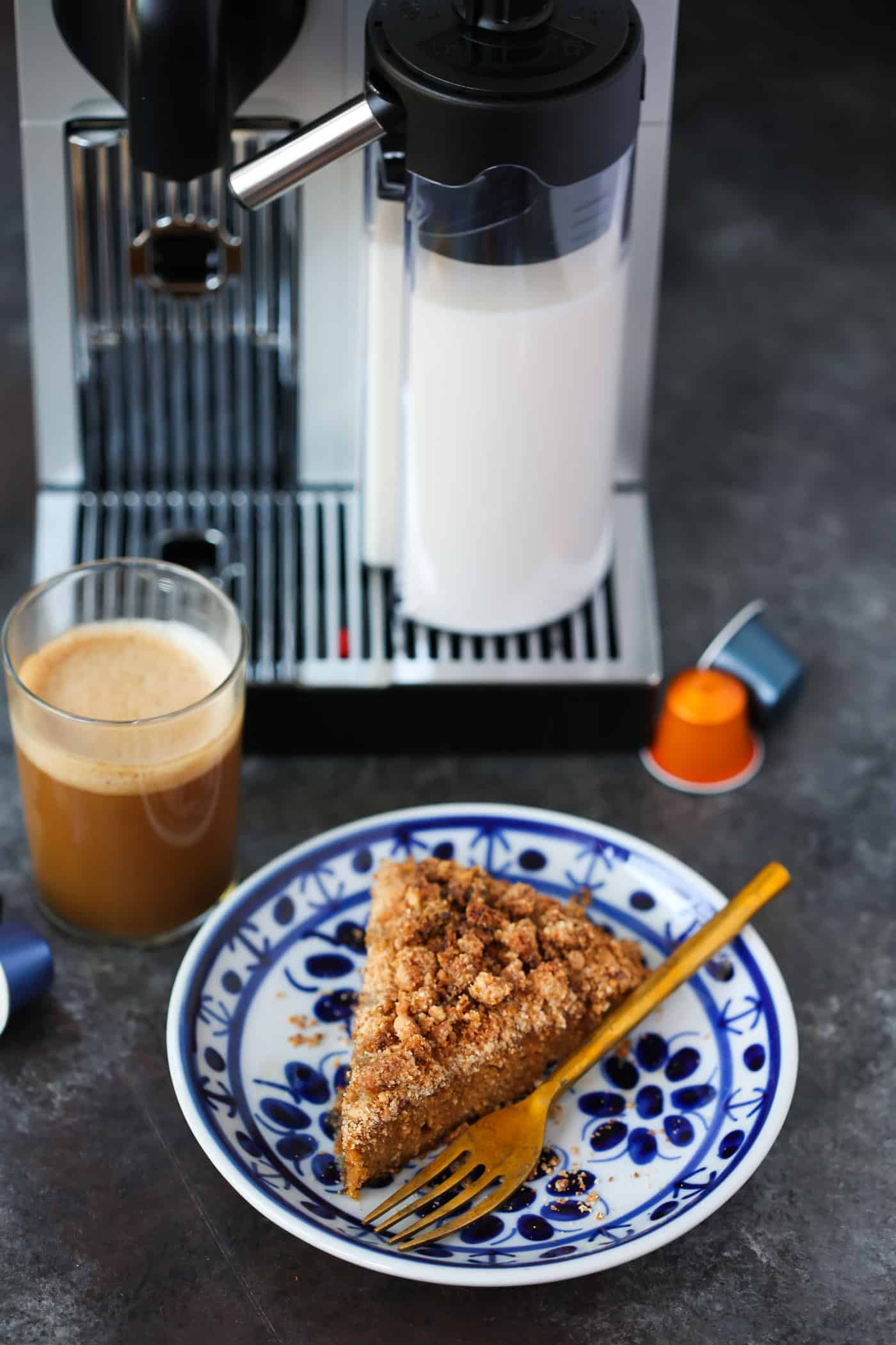 Who is ready for fall baking? How about starting off with this Gluten-Free Pumpkin Coffee Cake? It's made with almond and coconut flour, pumpkin puree and flavourful spices.