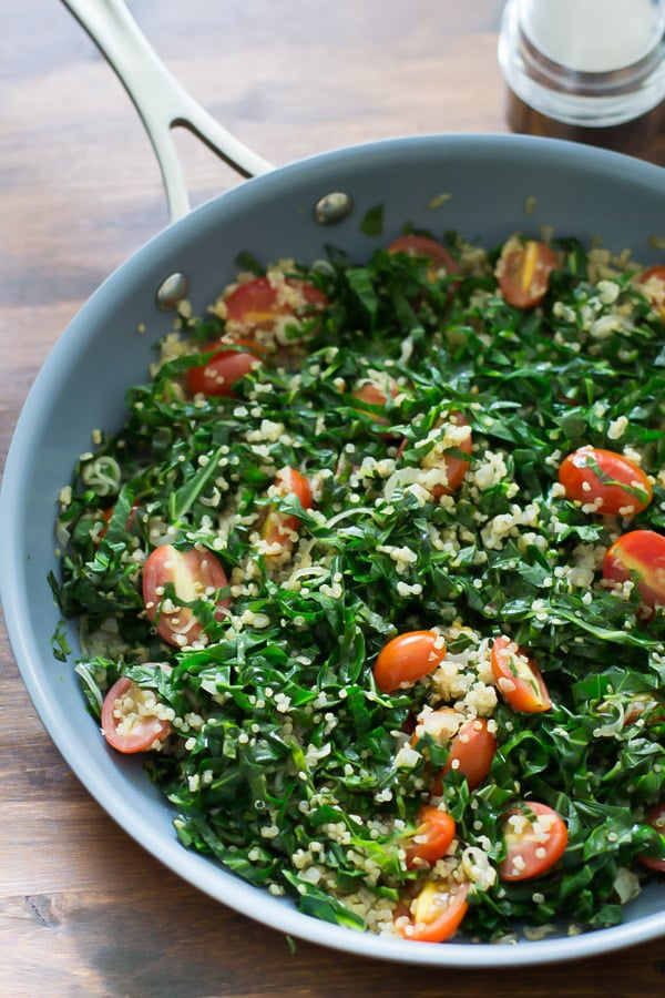 Warm Collard Quinoa Salad Primavera Kitchen Recipe