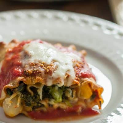 Vegies lasagna roll ups