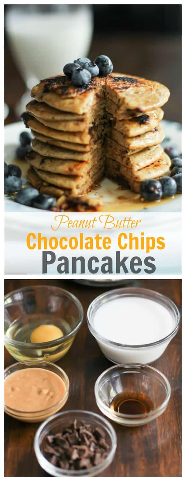 Peanut Butte Chocolate Chips Pancakes