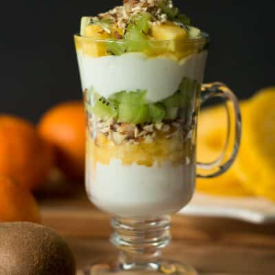 kiwi and pineapple parfait