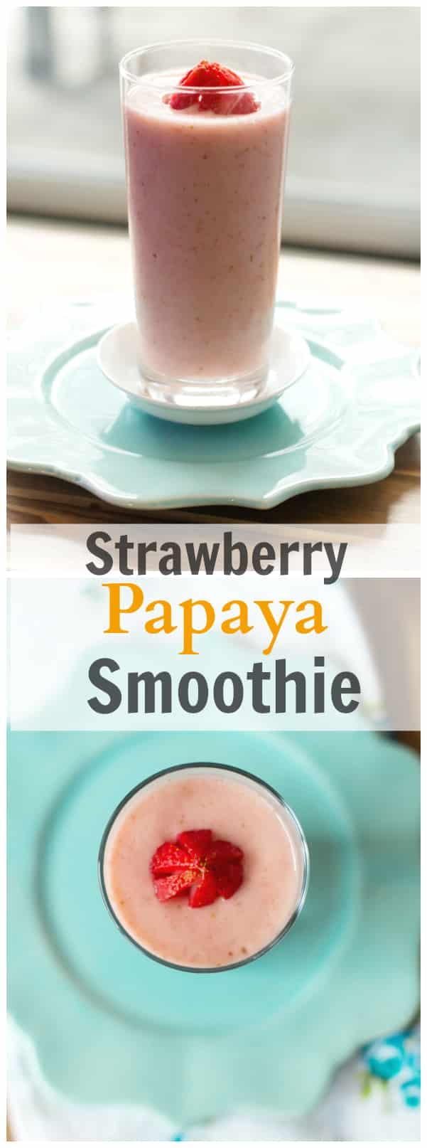 strawberry papaya smoothie