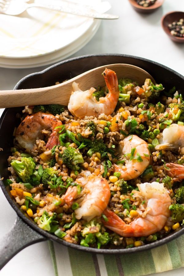 Shrimp Fried Rice with Broccoli Primavera Kitchen Recipe