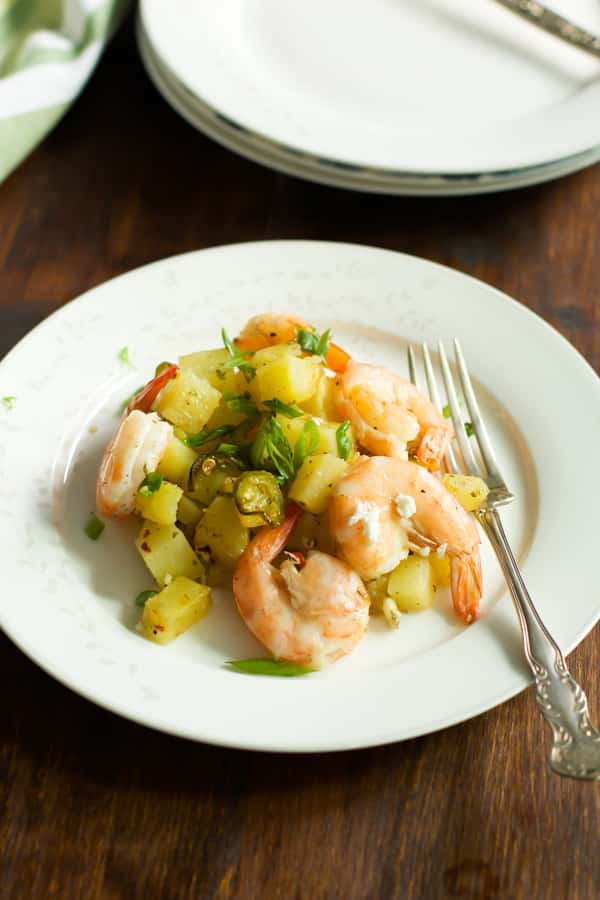baked Potato with lemon shrimp Primavera Kitchen Recipe