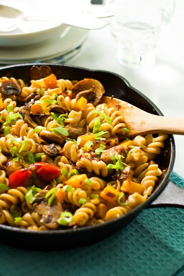 Fusilli with mushroom and roasted butternut squash Primavera Kitchen Recipe