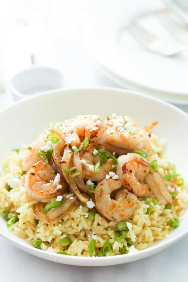 Rice with Balsamic Onions and Shrimp Primavera Kitchen Recipe
