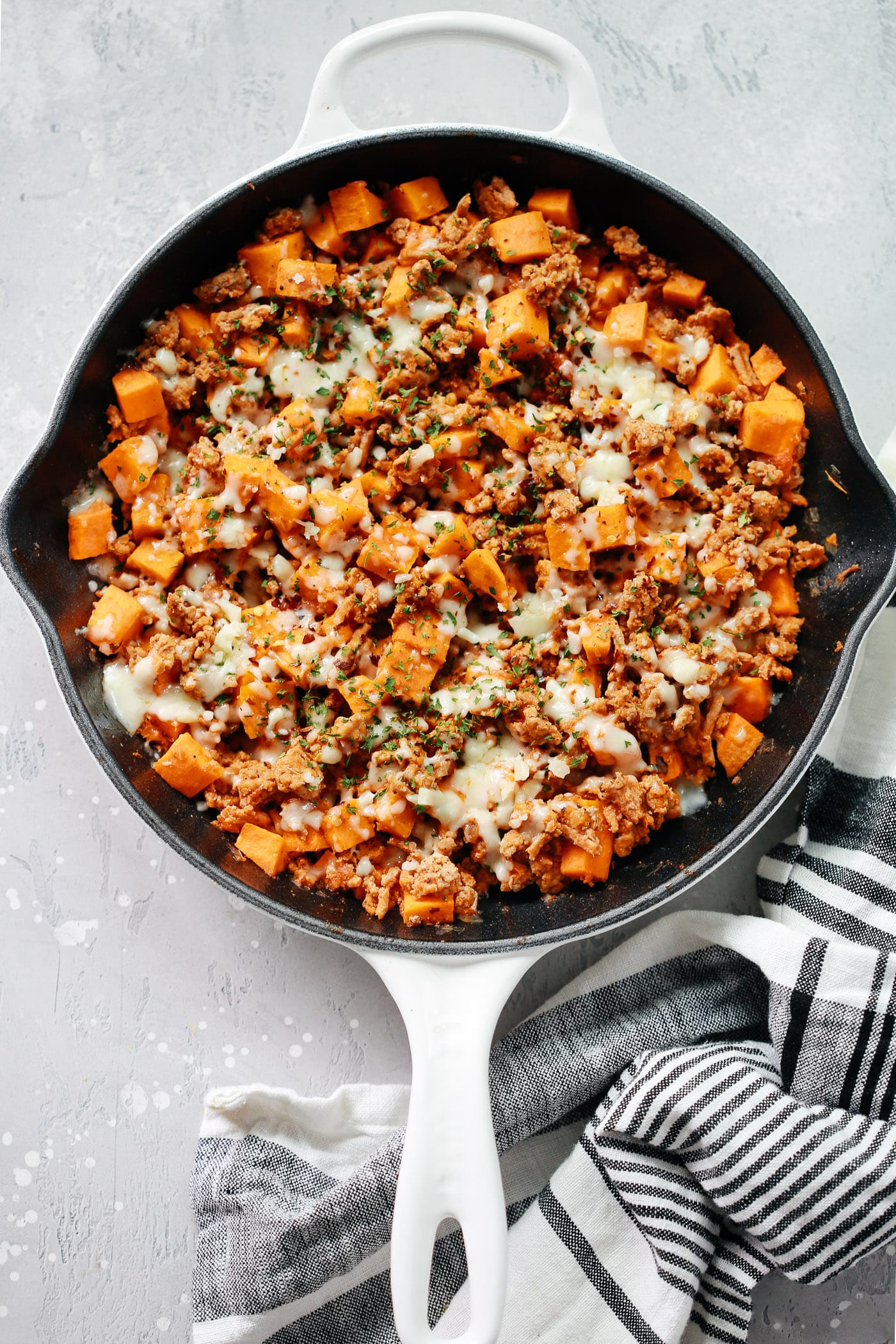ground turkey sweet potato skillet (delicious one-pan dinner recipe)