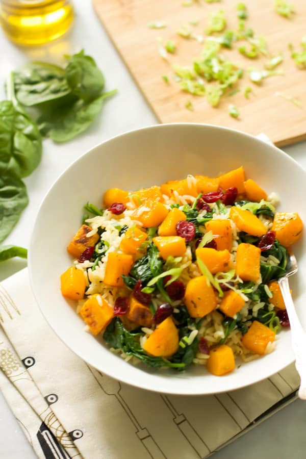 Rice with Roasted Butternut Squash and Dried Cranberries Primavera Kitchen Recipe