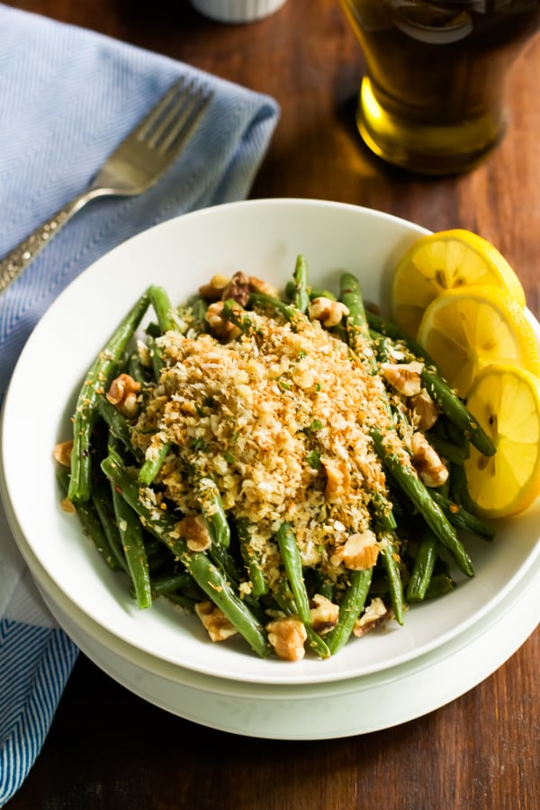 Roasted Green Beans with Garlic Panko Primavera Kitchen Recipe