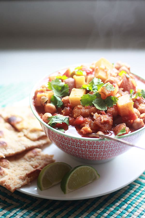 Slow Cooker Indian Spiced Chickpeas and Potatoes Primavera Kitchen Recipe
