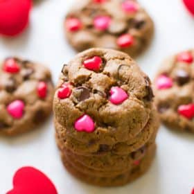 Valentine's Day Gluten Free Chocolate Chip Cookies - primaverakitchen.com