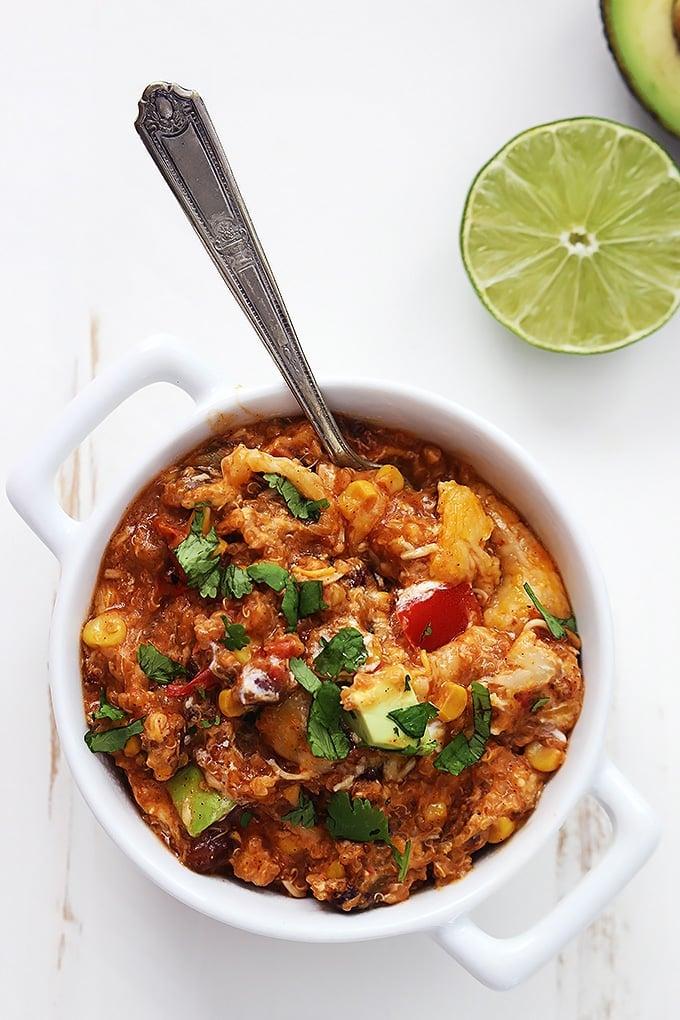 slow cooker enchilada quinoa Primavera Kitchen Recipe