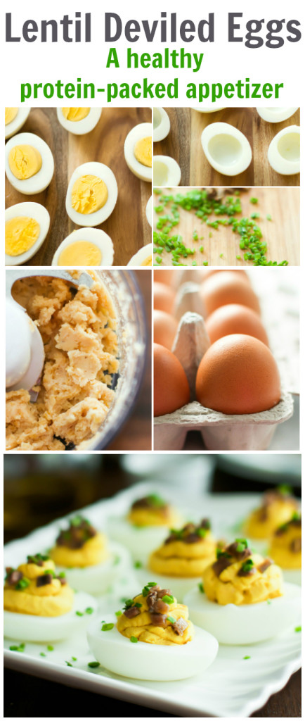 Lentil Deviled Eggs - A Healthy Protein-packed appetizer