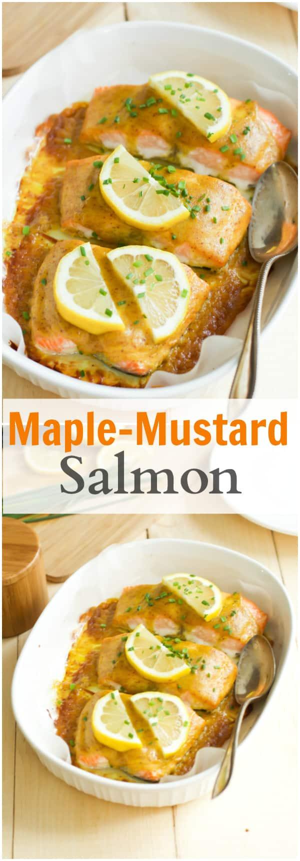 Maple-Mustard Salmon
