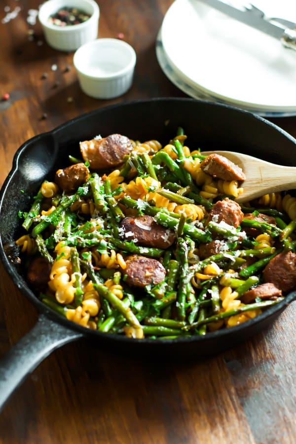 Sausage Asparagus Quinoa Pasta Primavera Kitchen Recipe