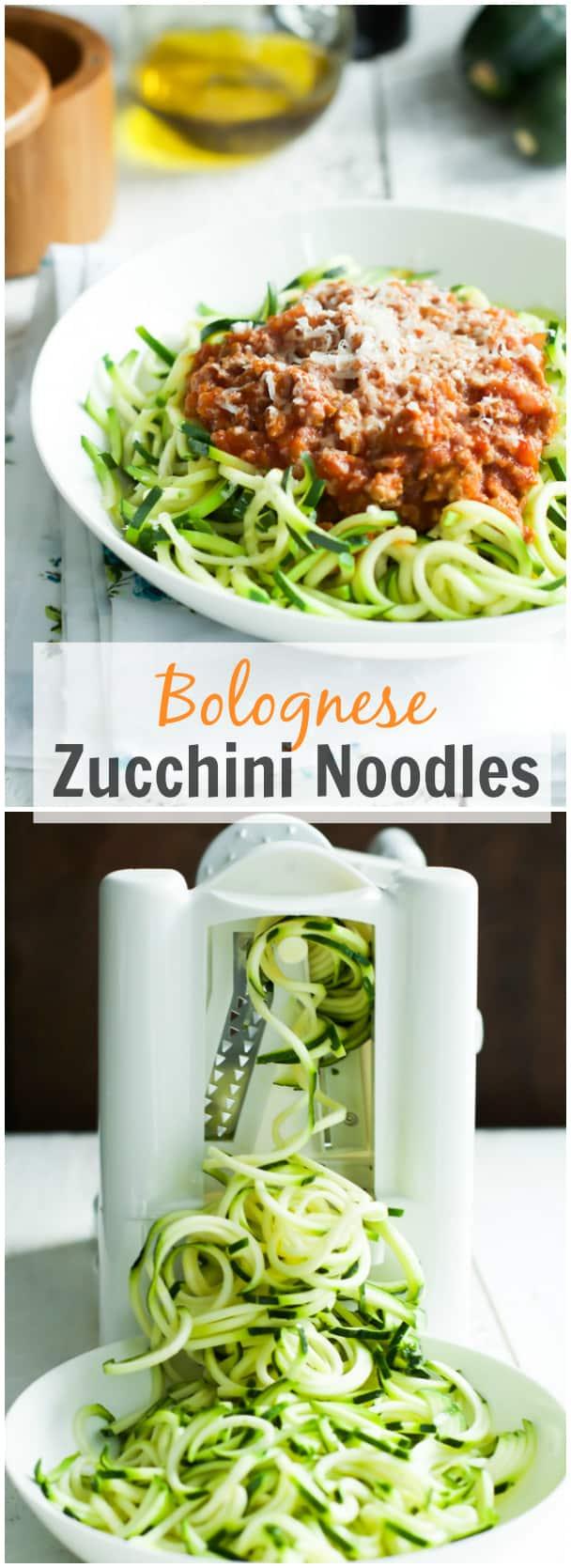 Bolognese Zucchini Noodles
