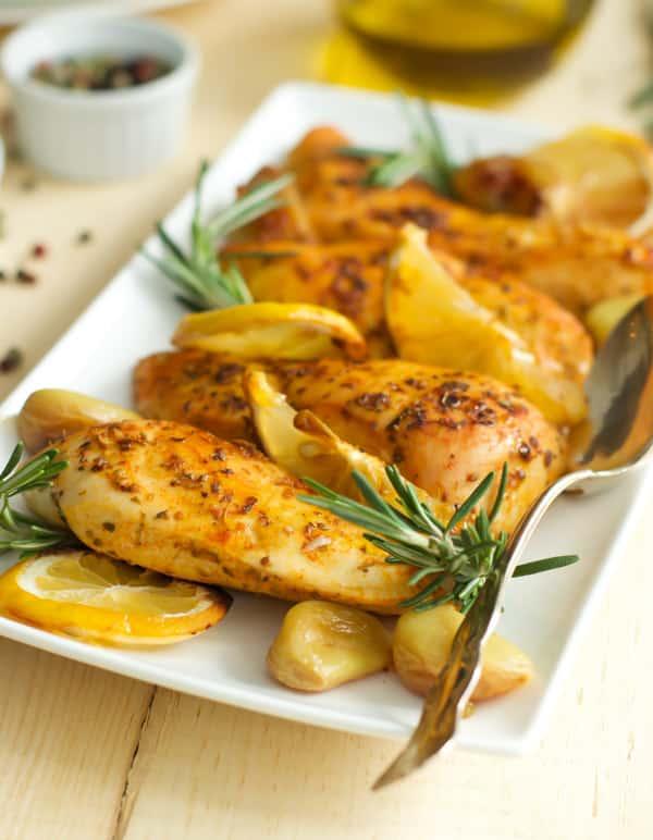 Rosemary Lemon Roasted Chicken Breasts-2