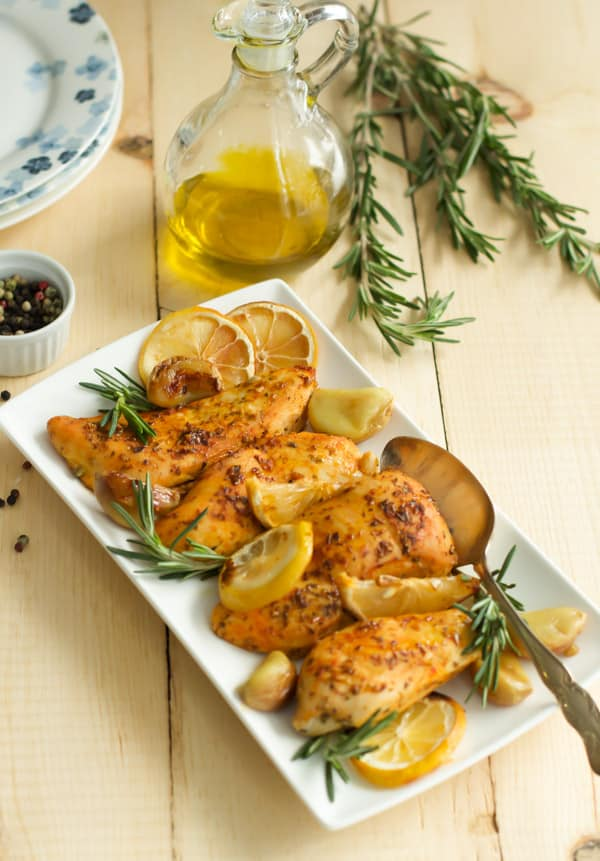 Rosemary Lemon Roasted Chicken Breasts - Primavera Kitchen