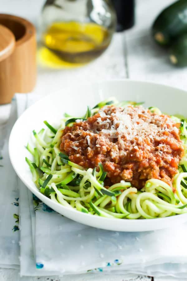 Turkey Bolognese Zucchini Pasta Primavera Kitchen Recipe