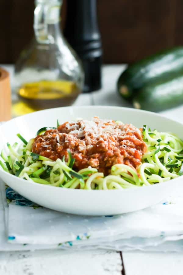 Turkey Bolognese Zucchini Pasta recipes Primavera Kitchen