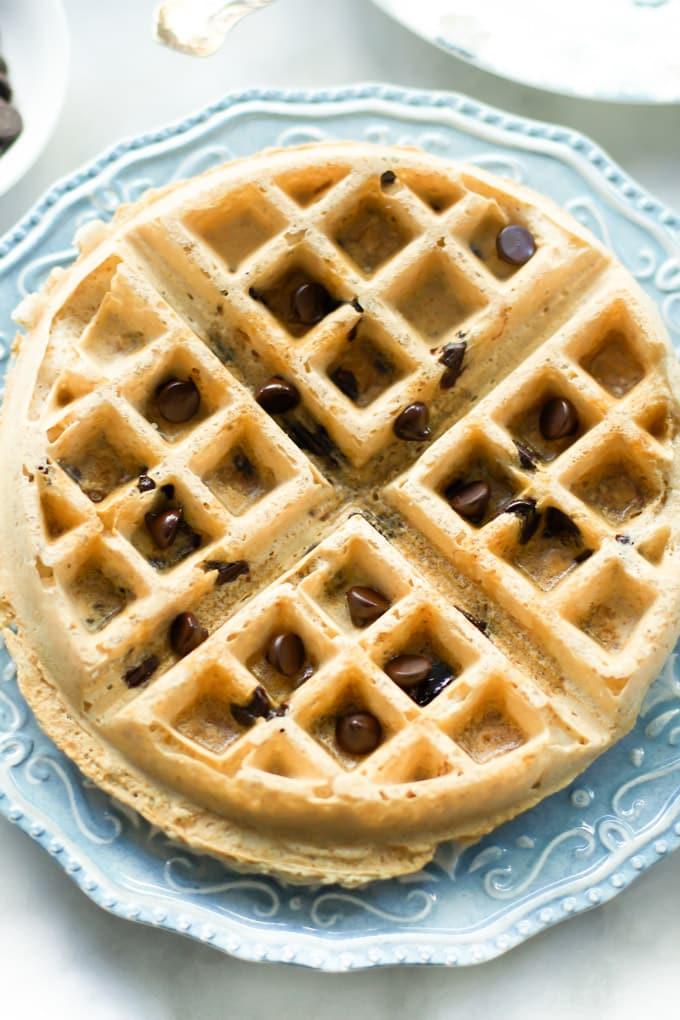almond butter waffles-2
