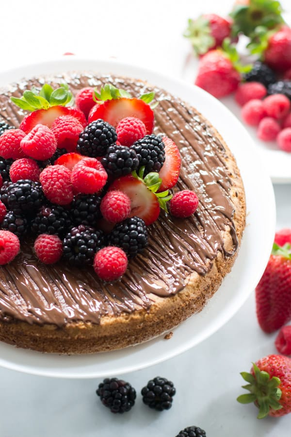 Almond Cake with Berries - Primavera Kitchen
