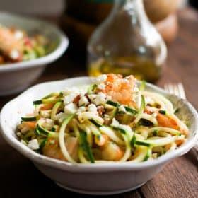Garlic Shrimp with Zucchini Noodles-3