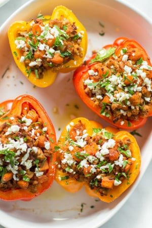 Sweet Potato Stuffed Peppers Primavera Kitchen Recipe
