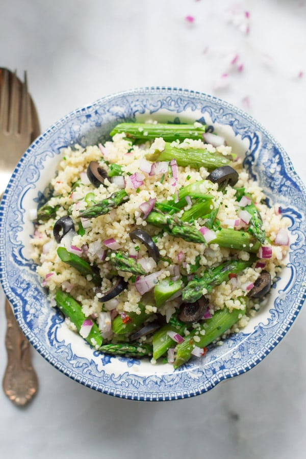 Asparagus Couscous Salad Recipe - Primavera Kitchen