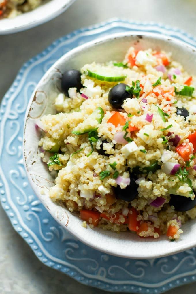Quinoa Greek Salad Primavera Kitchen Recipe