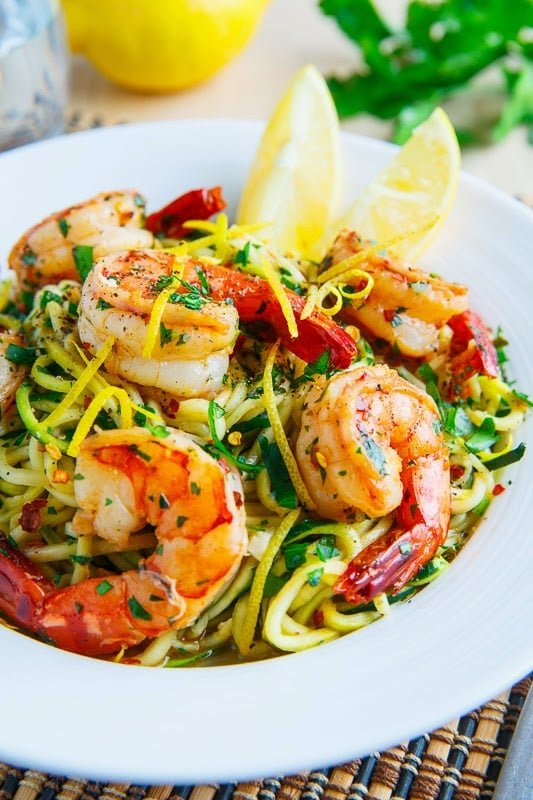 Shrimp Scampi Zucchini Noodles recipes Primavera Kitchen