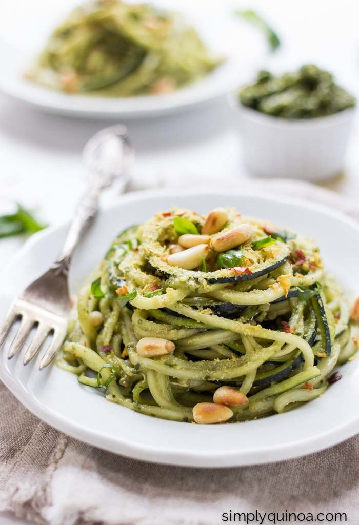 quinoa pesto zucchini noodles recipes Primavera Kitchen