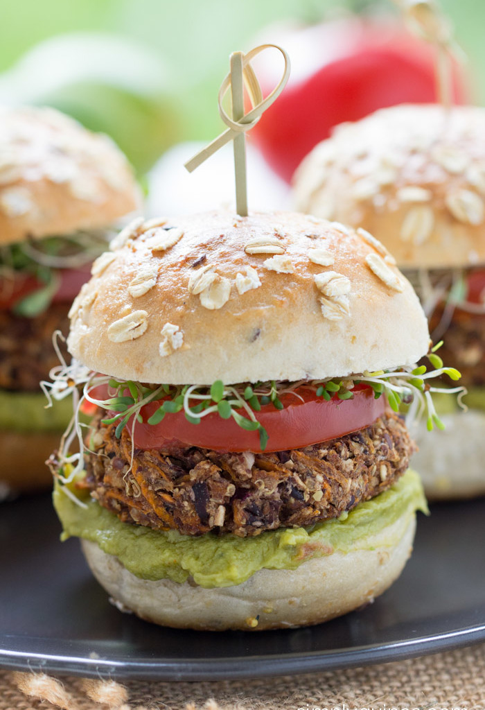 sweet potato black bean quinoa burgers